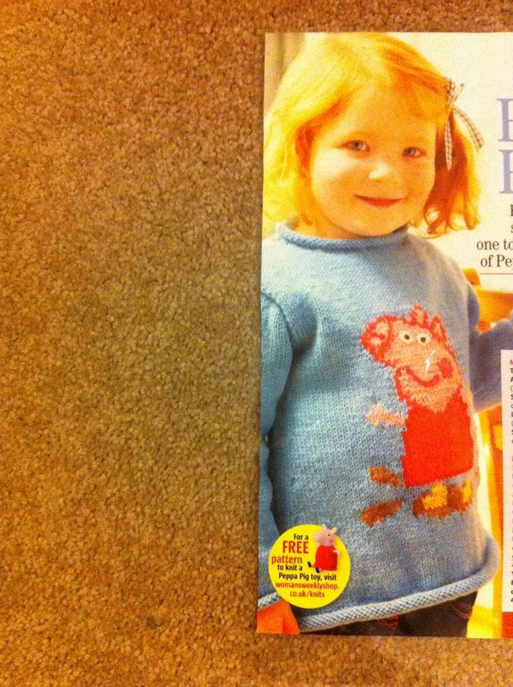 Peppa Pig Knitting Patterns : PEPPA PIG JUMPER KNITTING PATTERN you would be a popular nanny if you could m...