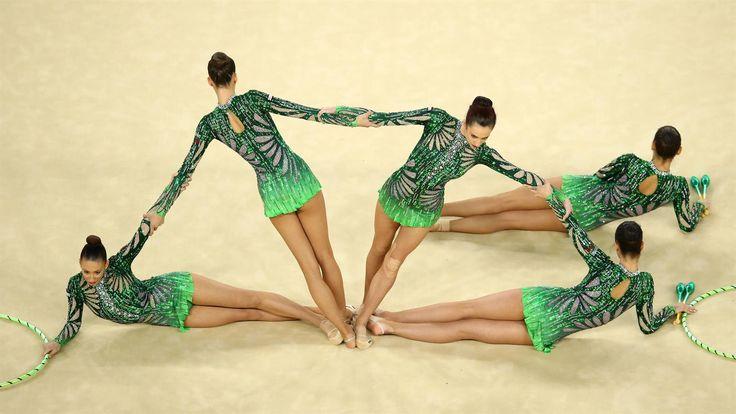 Reneta Kamberova, Lyubomira Kazanova, Mihaela Maevska, Tsvetelina Naydenova and Hristiana Todorova of Bulgaria, 2014 world champions, won bronze