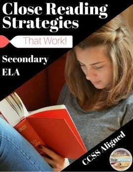 Grades 9-12- Teach your students how to use close reading strategies to improve reading comprehension and written analysis. This gradual release method will encourage your students to completely rethink how they view themselves as a readers. -Students will begin by completing and discussing their