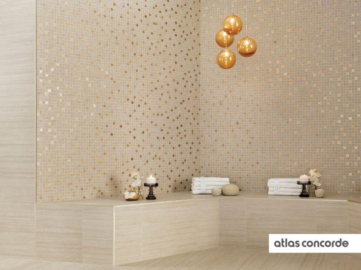 #SUNROCK travertino almond | #AtlasConcorde | #Tiles | #Ceramic | #PorcelainTiles
