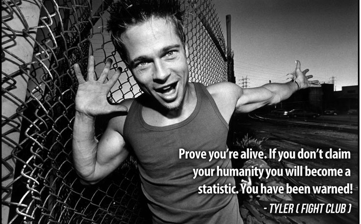 Warning from Tyler. #FightClub #Quotes