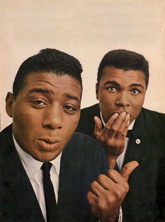 Floyd Patterson and Muhammad Ali, 1966 it was muhammad Ali's birthday not so long ago Jan 17th