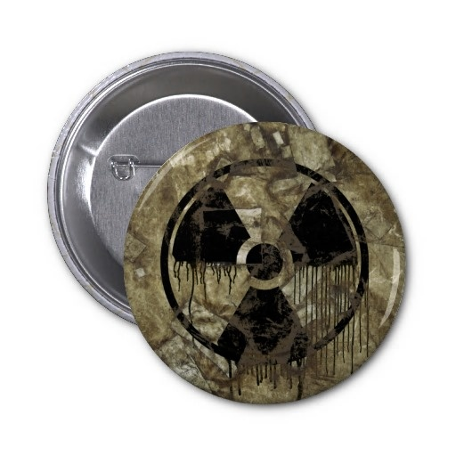 AFTERMATH BUTTON. A Post-apocalyptic, fully customizable design by BannedWare.