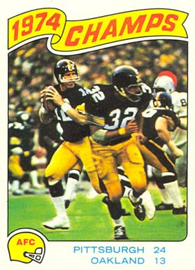 1975 topps football cards | on card afc champions card number 526 year 1975 set name 1975 topps ...