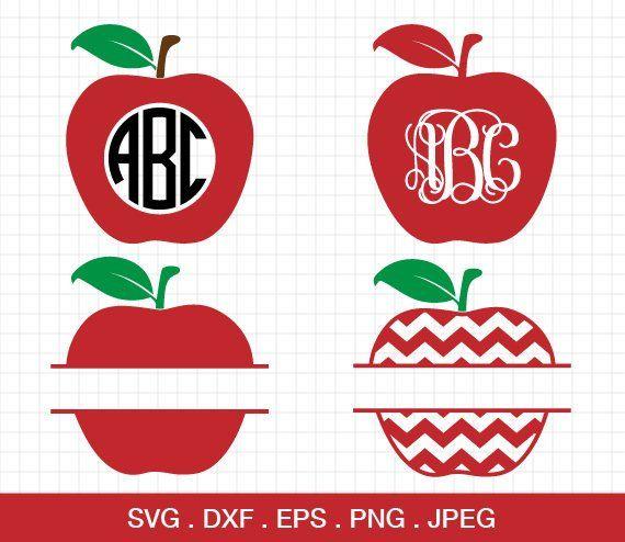 Apple SVG, Chevron Apple svg, Apple Monogram svg, Teacher