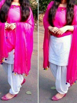 a4ee782187 Pure Cotton Self Design Plian Un-Stitched Salwar Suit (White) in ...