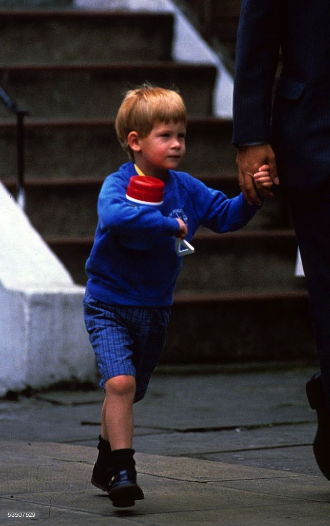 September 15, 1988: Prince Harry (on his 4th birthday) leaving his Nursery School and heading to Kensington Palace. He had birthday celebration with some of his friends at KP that day. (x)