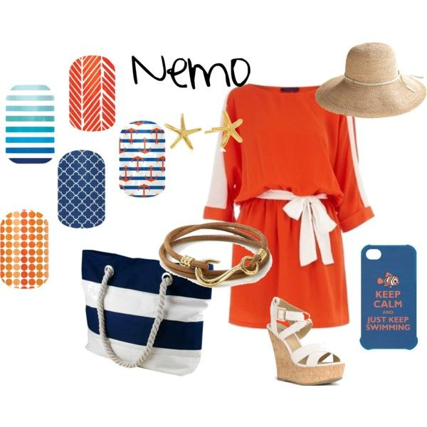 Nemo inspired Jamberry Nails outfit www.tracyb.jamberrynails.net