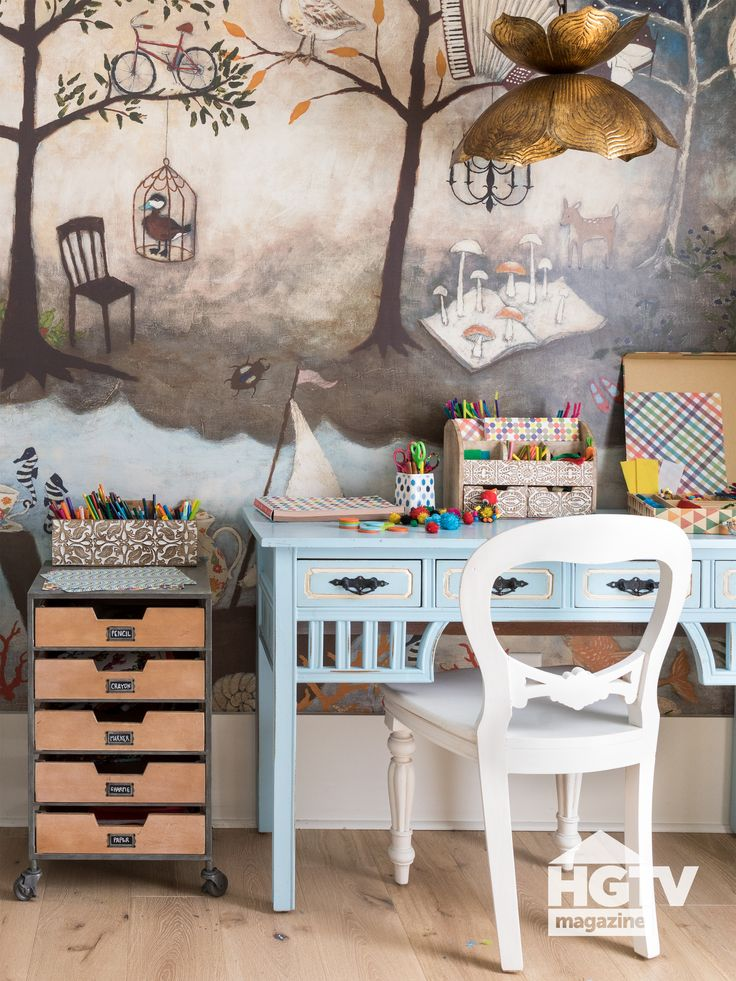 A dreamy craft room from HGTV Magazine