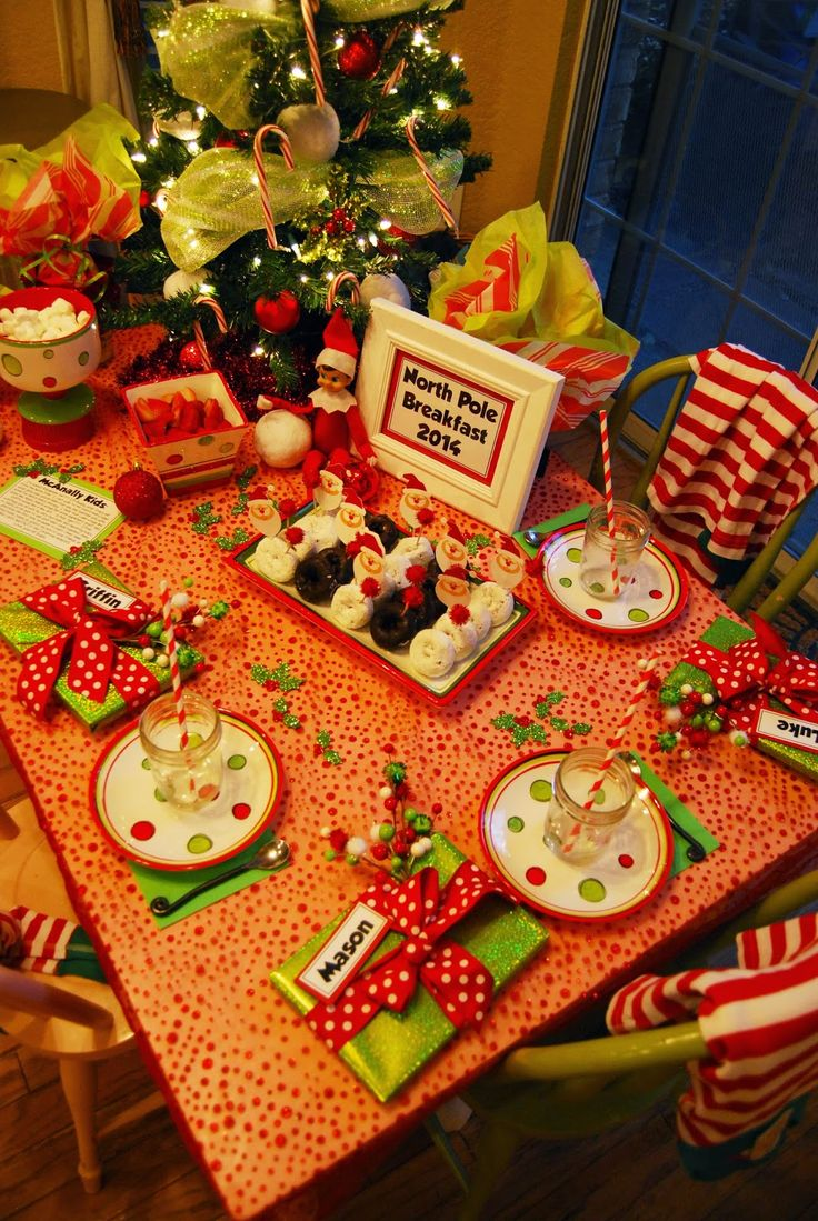 Momfessionals: North Pole Breakfast 2014. Introduction of the elf on the shelf.