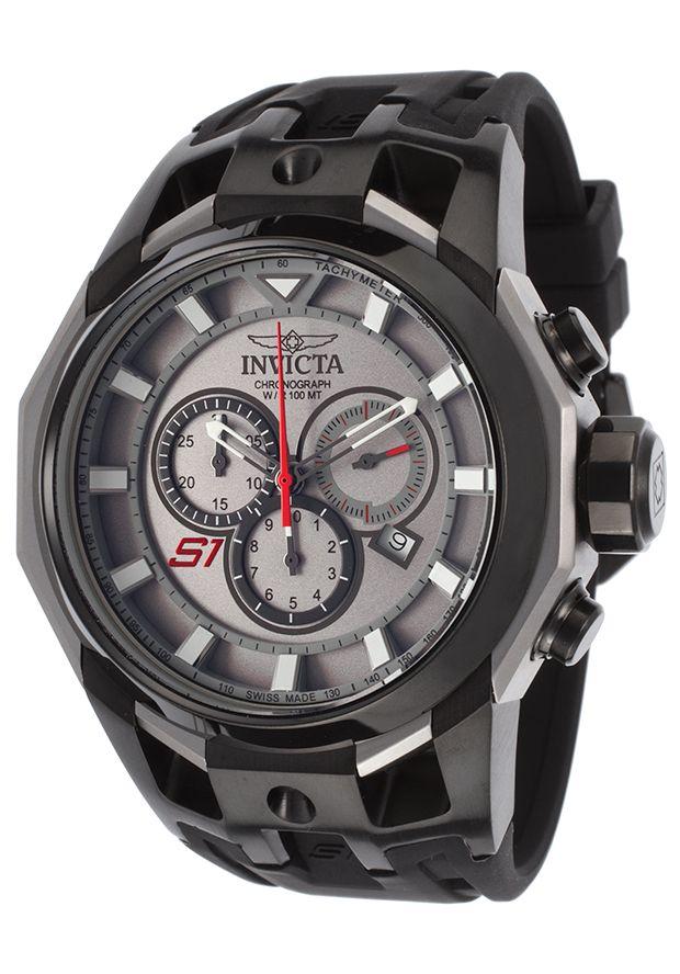 Invicta Men's S1 Rally Chrono Black Silicone Titanium-Tone Dial Black BezelInvicta 16812 Watch