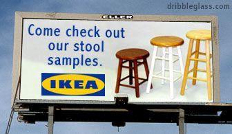 Ikea's stool samples...