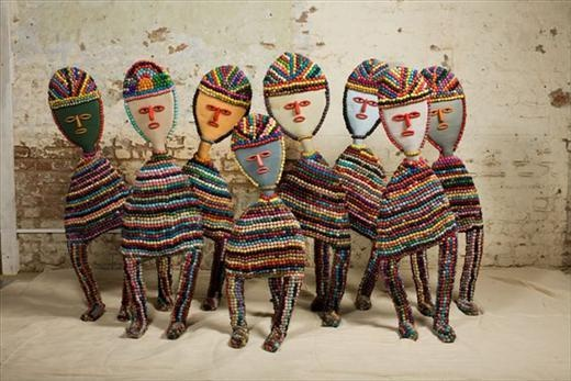 Nek Chand, Untitled Figures (from Rock Garden) , c. 1980