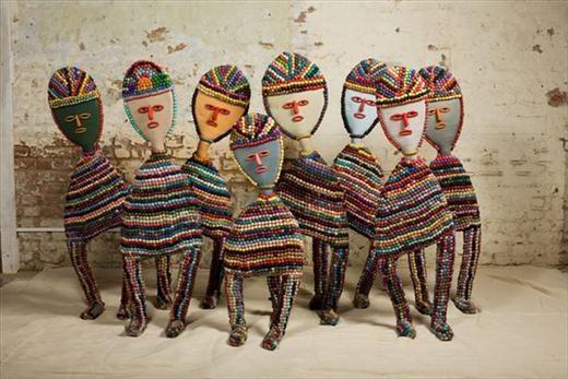 Nek Chand, Untitled Figures (from Rock Garden) , c. 1980