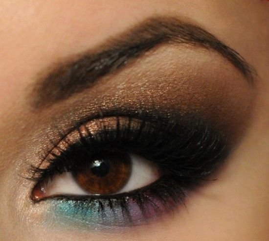 Colour Pop: Brown Eyes, Idea, Make Up, Eye Makeup, Eyeshadow, Colors, Pop, Beauty, Hair