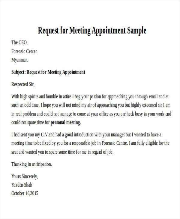 Sample Letter To Request A Meeting With The Ceo from i.pinimg.com