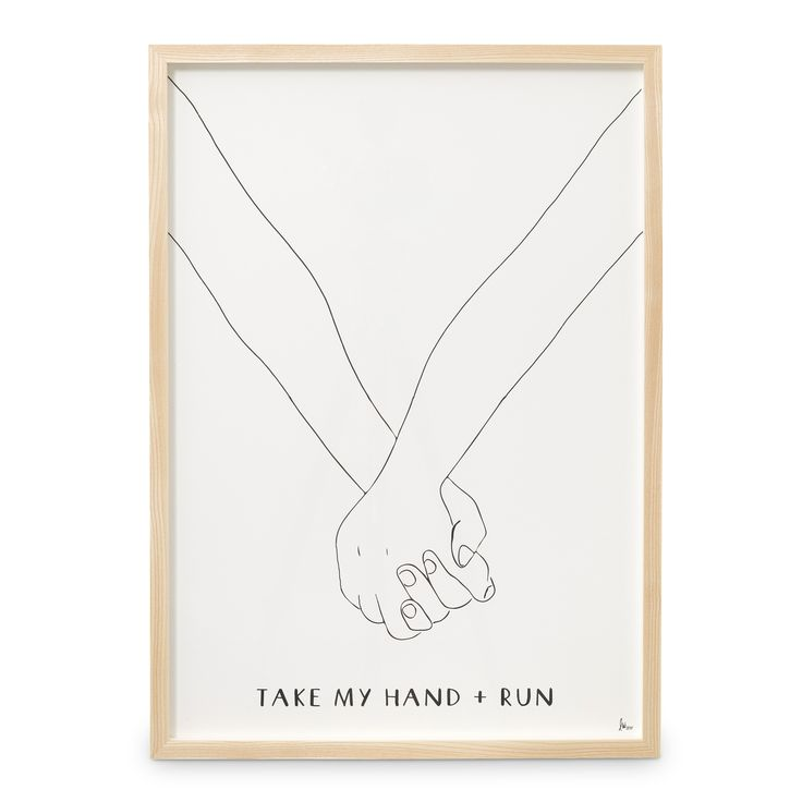 Buy the A2 Take My Hand   Run Wall Art at Oliver Bonas. Enjoy free UK standard delivery for orders over £50.