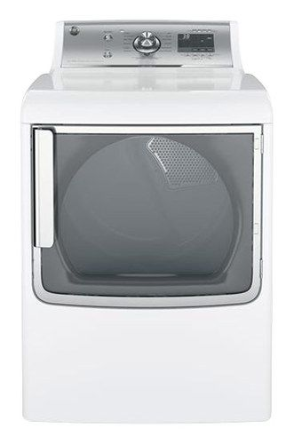 GE - 7.8 Cu. Ft. 14-Cycle Electric Dryer with Steam - White