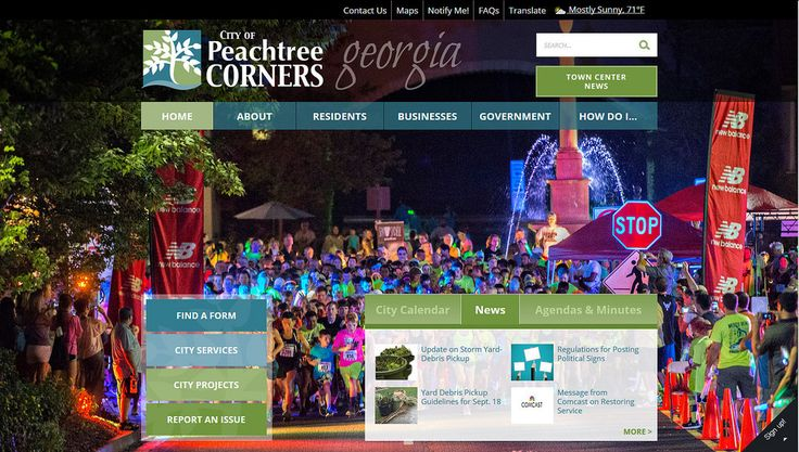 2017 City/County Medium Low Population Group (40,001 – 95,000 residents) Pinnacle Award Winner http://www.peachtreecornersga.gov
