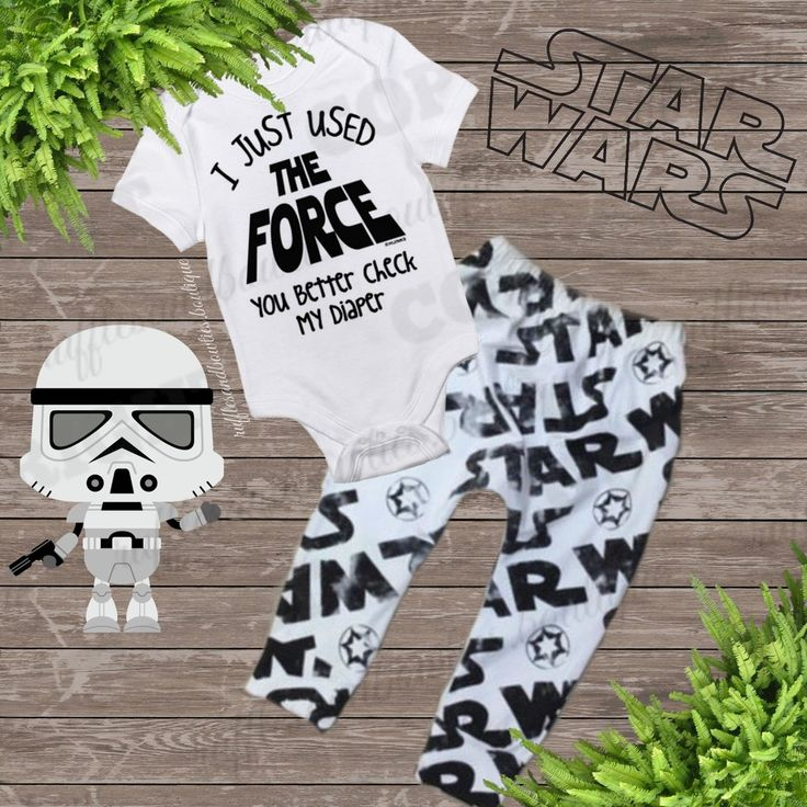 I Just Used The FORCE You Better Check My Diaper Baby Onesie/Shirt  - Sets Available