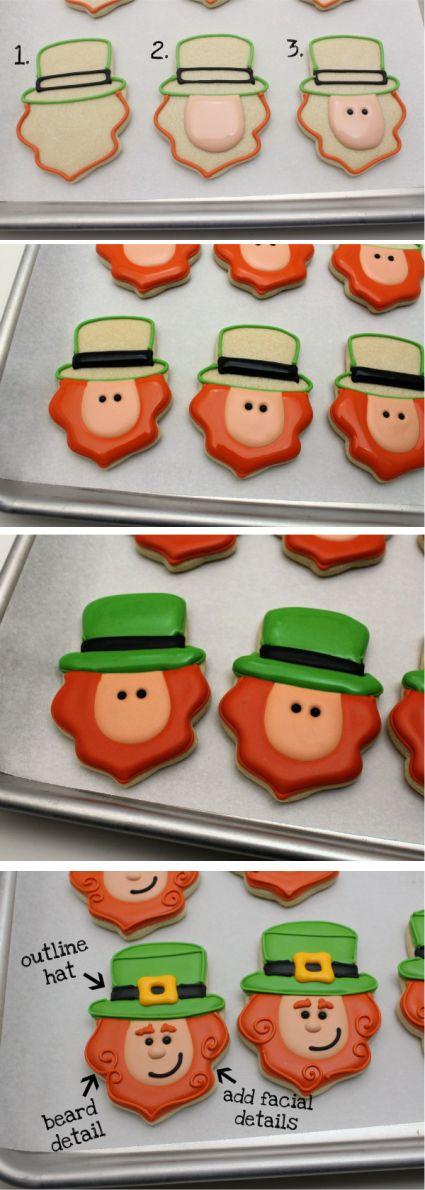 St. Paddys Day Leprechaun Cookies