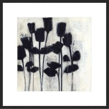 Shadow Roses II Abstract Framed Print