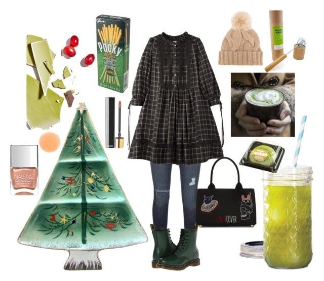 matcha tea by ioana-constantin-1 on Polyvore featuring Black Orchid, Dr. Martens, Undercover, Loro Piana, Chanel, Nails Inc. and Free People