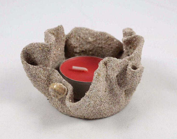 Porta candela. Candela di sabbia. Portacandela sabbia. Candela mare, sabbia. Candela rossa, profumata. Porta candela artigianale. di Fantasiedisabbia su Etsy