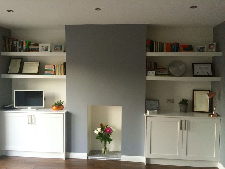 The finished room, just love this grey: Dulux natural slate.