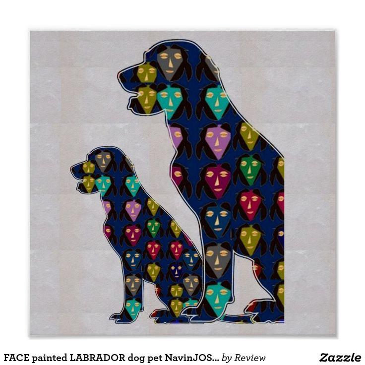 FACE painted LABRADOR dog pet NavinJOSHI NVN126 Poster