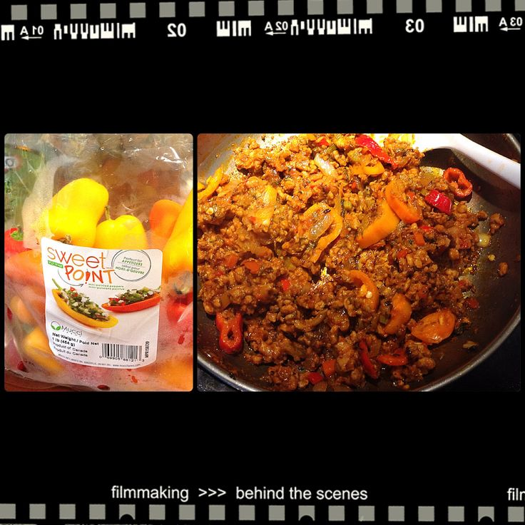 minced chicken w/ sweet peppers