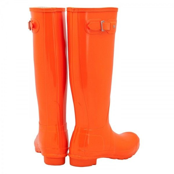 Hunter Festival Fluroescent Wellington boots found on Polyvore - want these kind of boots!