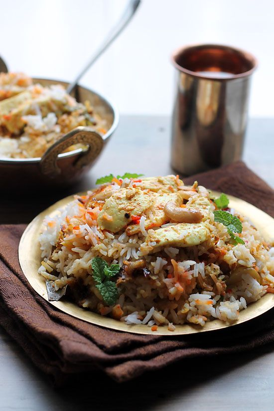 Paneer Biryani Recipe is a treat for the vegetarians. This Biryani is delicious, tossed with Indian spices, herbs and the soft succulent pieces of paneer.