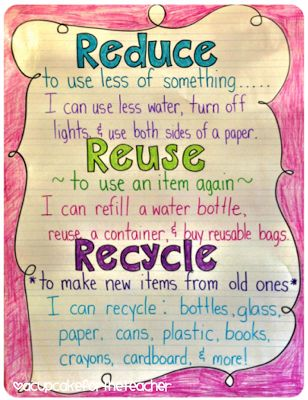 Erica Bohrer's First Grade: Earth Day: Reusing in the Classroom and Visual Plans for the Week of April 22nd