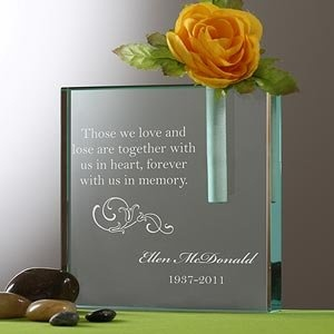Personalized Memorial Bud Vase - Loving Memory- for Dad at wedding