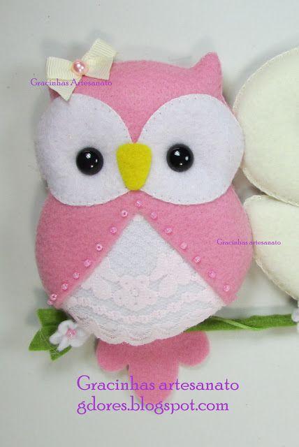 Coruja feltro (felt owl) | Gracinhas Artesanato
