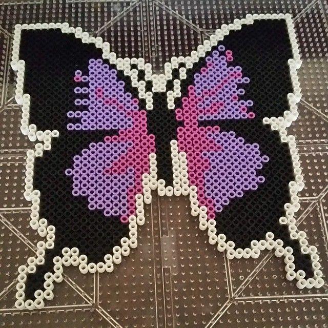 Butterfly perler beads by drivingdaisycrazy