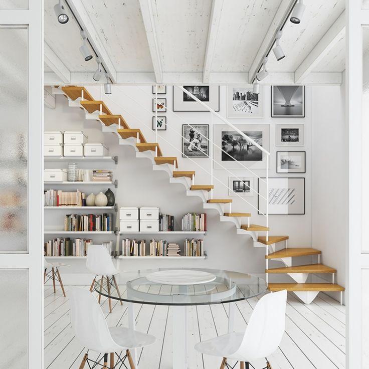 ¿Te has planteado como aprovechar el espacio muerto que hay debajo de tu escalera? Apuesta por convertirlo en una pequeña biblioteca o zona de trabajo.Si eres fanático de la lectura no puedes pasar por alto esta solución de...