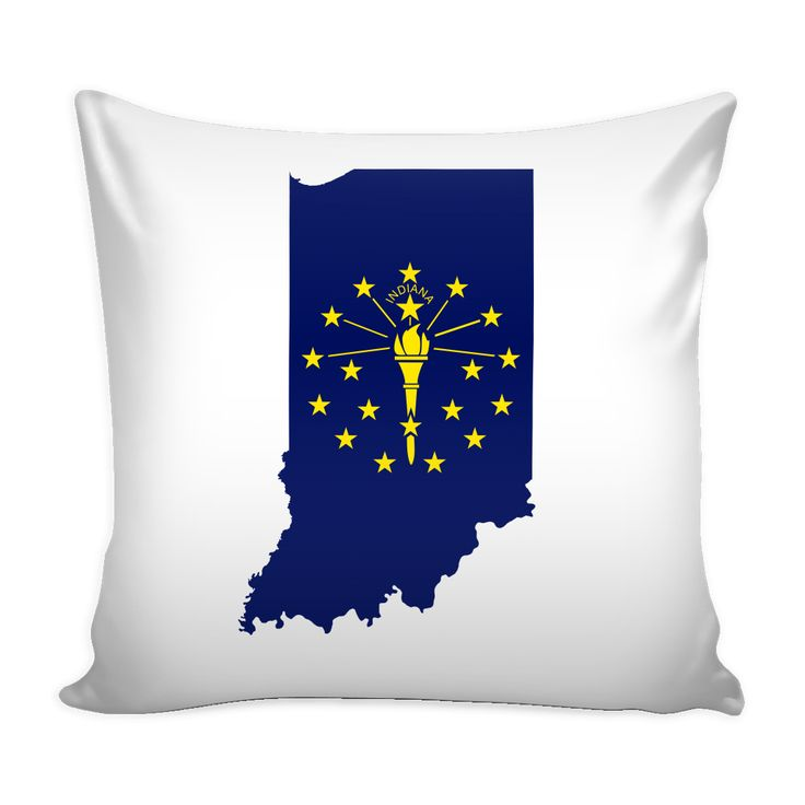 Indiana Flag Pillow Cover