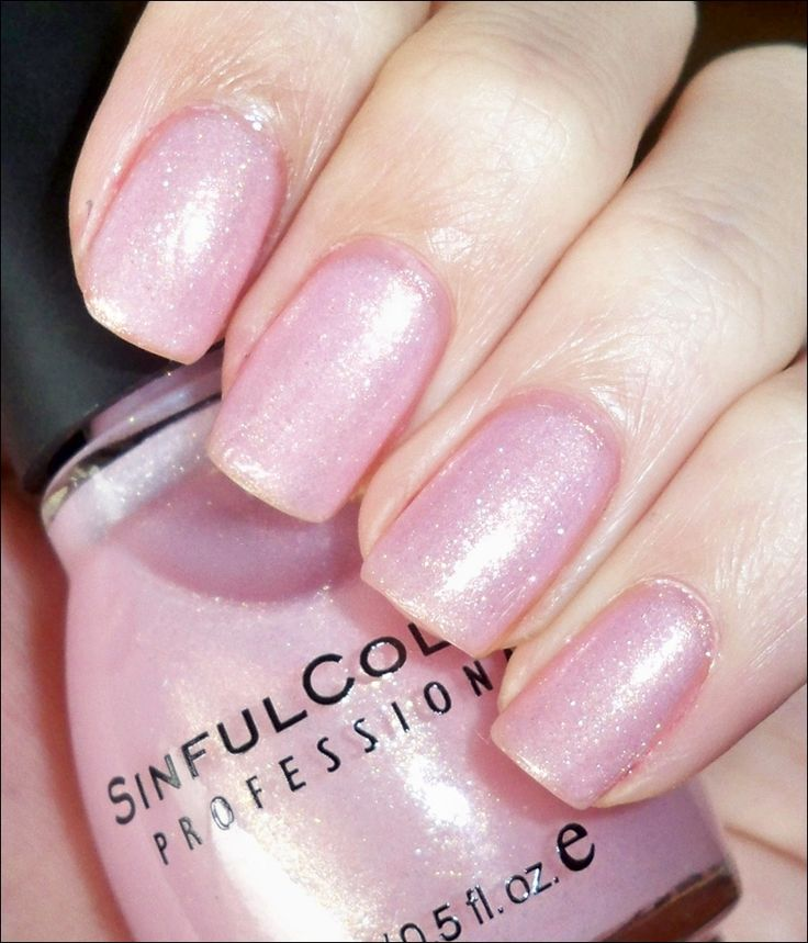 Sinful Colors in Glass Pink. These beautiful nails are not mine, but this is my nail polish of the week.