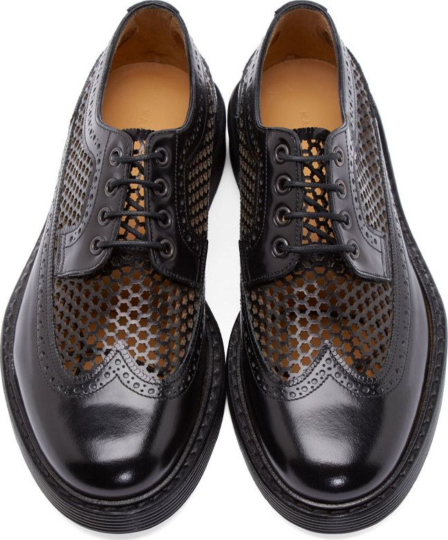 Marc Jacobs Black Perforated Brogues