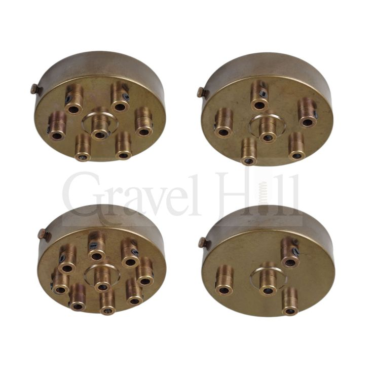 Antique Brass PREMIUM Multi Outlet Ceiling Roses 1 – 9 Way Drop Options
