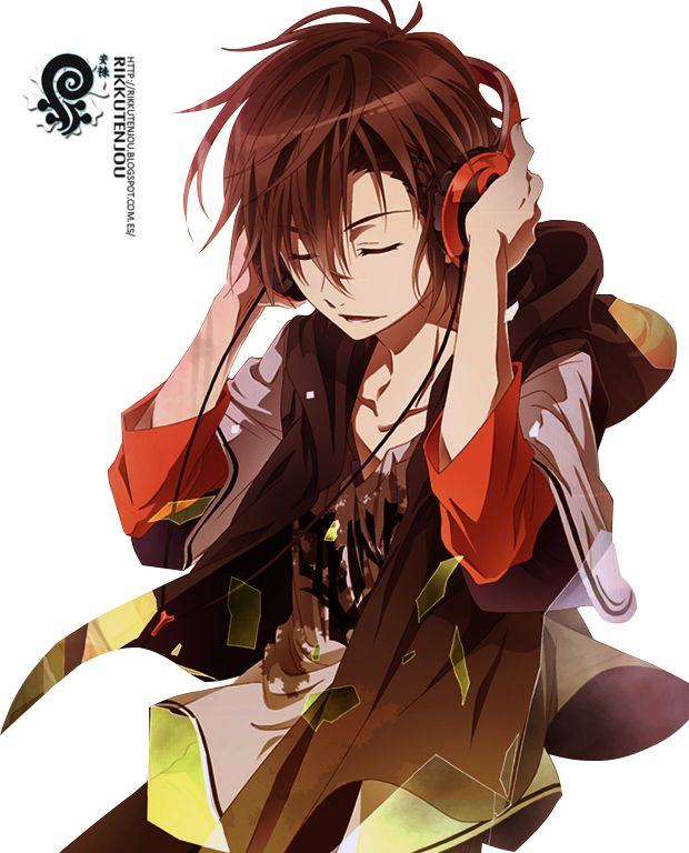 Anime Guy With Headphones