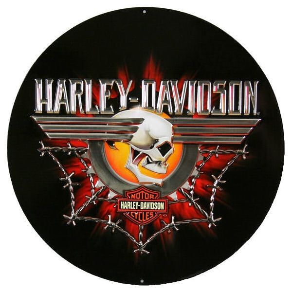 Harley Davidson Sign Gearhead Skull Ande Rooney Signs