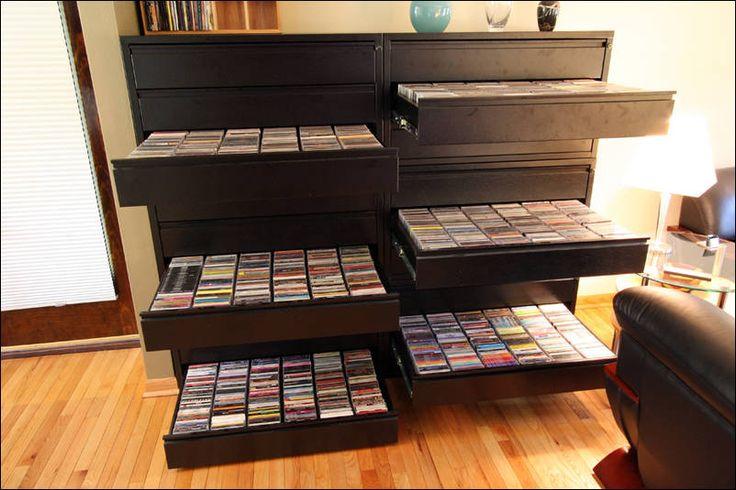 DVD Storage Cabinet | dvd organizer, cd storage, dvd racks