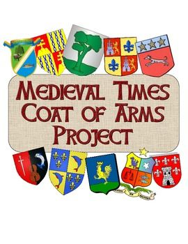 """This excellent Coat of Arms project is great for a unit on the Middle Ages or for a back-to-school """"get to know each other activity""""! Included is a directions page that gives the historic background of Coats of Arms and heraldry, as well as simple instructions for students on how to create a Coat of Arms. Next is a fantastic printable Coat of Arms template to use in class and a rubric to help with grading."""