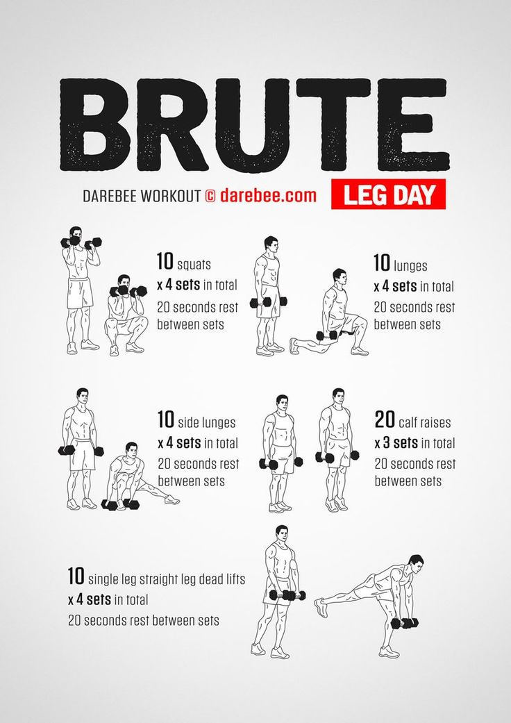Darebee leg day workout! Use with or without weights ...