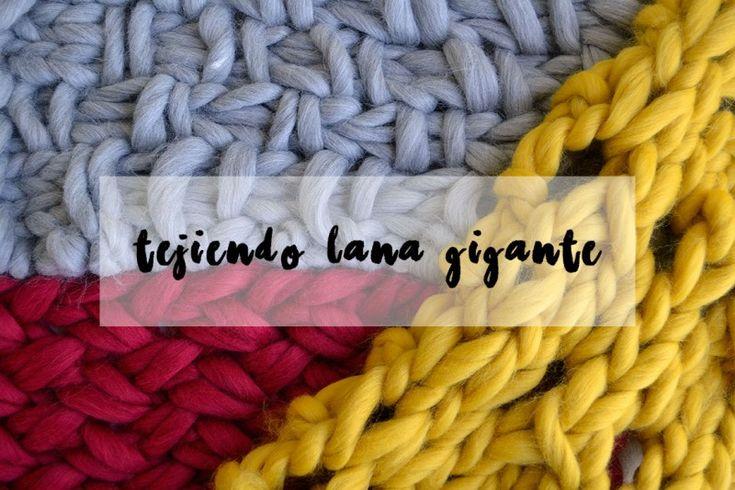 Qu puntos elegir para tejer con lana gigante proyectos - Puntos para tejer lana ...