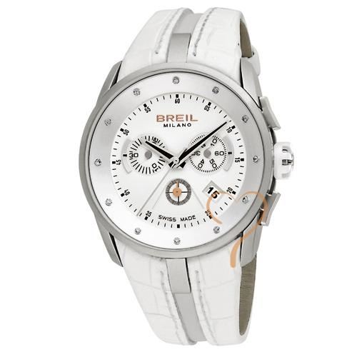 Ρολόι Breil Swiss White Chrono Leather Strap - BeMine.gr