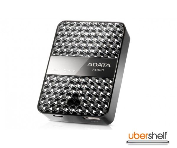 ADATA DashDrive Air AE400 Wireless Storage Reader & Power Bank